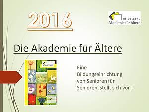 Bericht über die Akademie 2016